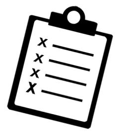 A checklist on a clipboard