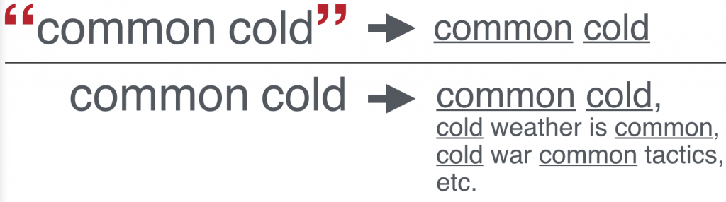 Quotation marks around the phrase common cold.
